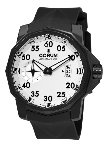Corum Men's 94793194/0371AA Admirals Cup Black Competition 48 Silver Dial Watch