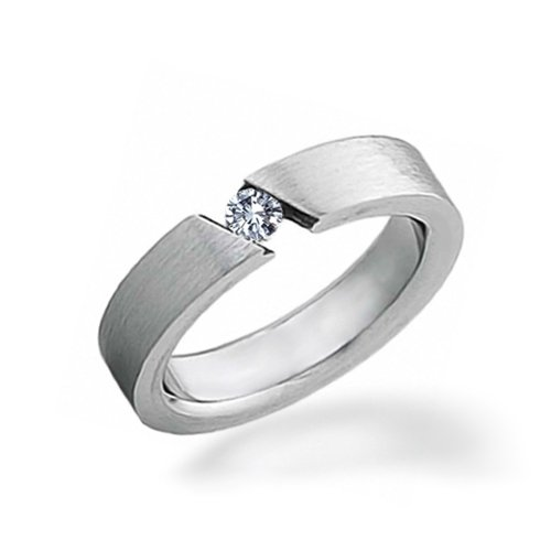 Stainless Steel Diamond Engagement Rings Stainless Steel Ring With