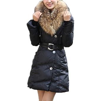damen winterjacke wintermantel wattierter mantel lang slim. Black Bedroom Furniture Sets. Home Design Ideas