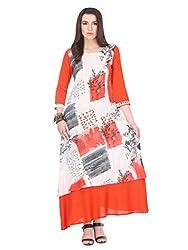 Printed Stitched Kurti With Rayon Fabric