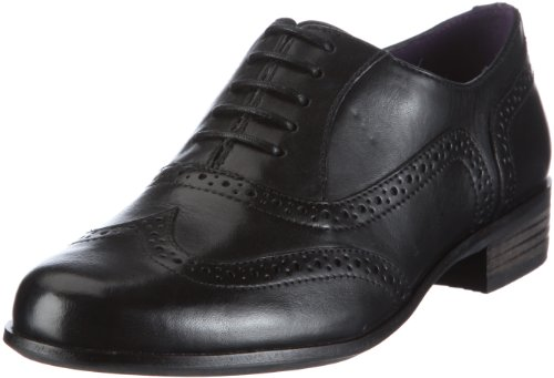 Clarks Womens Hamble Oak Shoes Black Leather 5 UK