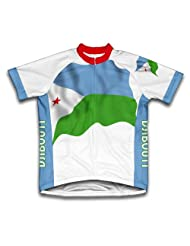 Djobouti Flag Short Sleeve Cycling Jersey for Women