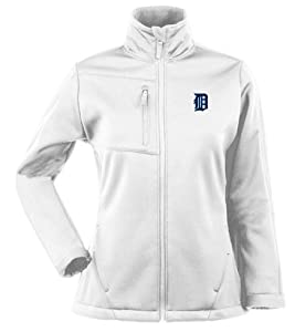 Detroit Tigers Ladies Traverse Jacket (White) by Antigua