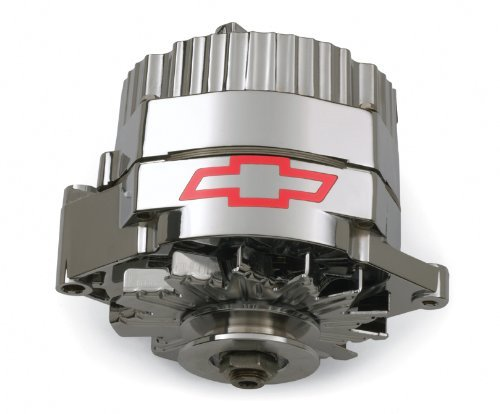 Proform 141-660 120 Amp 10si Chrome Finish 1-Wire Alternator with Internal Regulator and Red Bowtie Logo for GM by ProForm (Gm 10si Alternator compare prices)
