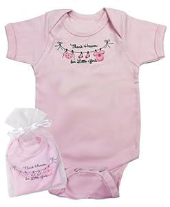 Thank Heaven for Little Girls Infant Onesie in Gift Bag