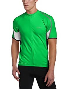 Gore Bike Wear Phantom Jersey - Men's Green Leaf/Black/White, M