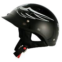 VCAN V531 Cruiser Amazing Dark Angel Half Helmet (Gloss Black, Large) from VCAN