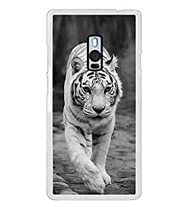White Tiger 2D Hard Polycarbonate Designer Back Case Cover for OnePlus 2 :: OnePlus Two :: One +2