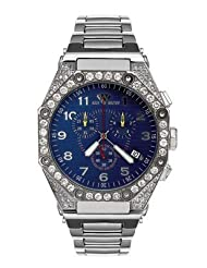 Aqua Master Men's Octagon Diamond Watch with Diamond Bezel, 4.50 ctw