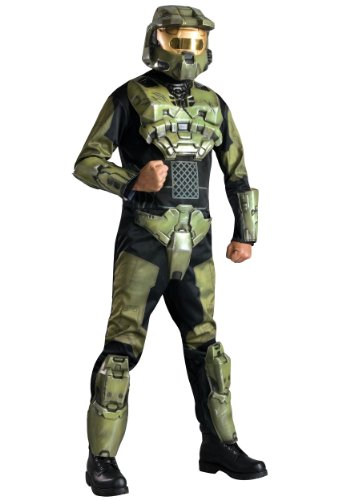 Rubies Mens Deluxe Halo Master Chief Theme Party Fancy Dress Costume