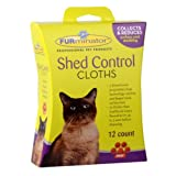 FURminator Shed Control Cloths for Cats, 12-Count (105007)