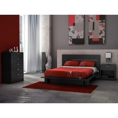 cheap milan queen platform bedroom set in solid black save best home
