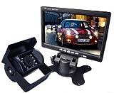 COM★MI-7MNBK◆7インチ 液晶モニター と 暗視対応 バックカメラ 12V 24V 兼用 フルセット 大型車 取付可能 明るさ自動認識 電源直結