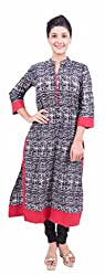 Krivi By Kk Women's Cotton Kurti (KRV-05-D_Multi-Coloured_XL)