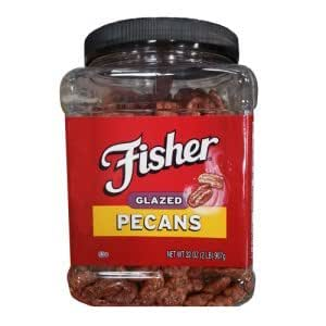 Amazon.com : Delicious Fisher Fresh Glazed Pecans Jar of 2 Lb (32 Oz) : Grocery & Gourmet Food
