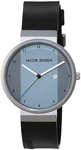 JACOB JENSEN - JACOB JENSEN NEW SERIES ITEM NO. 731 - Montre Mixte - Quartz - Analogique - Bracelet Caoutchouc noir
