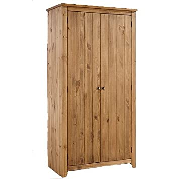 LPD Furniture Havana Wardrobe, 2 Door In Pine