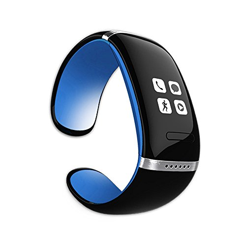 MEMTEQ® Bluetooth Smart Armband OLED-Bildschirm Touchscreen Freisprechen / Mobile Anti-Verlust / Schrittzähler für Android-Handy, iPhone (IOS), Symbian (Nokia), Blackberry OS, Windows Phone Blau