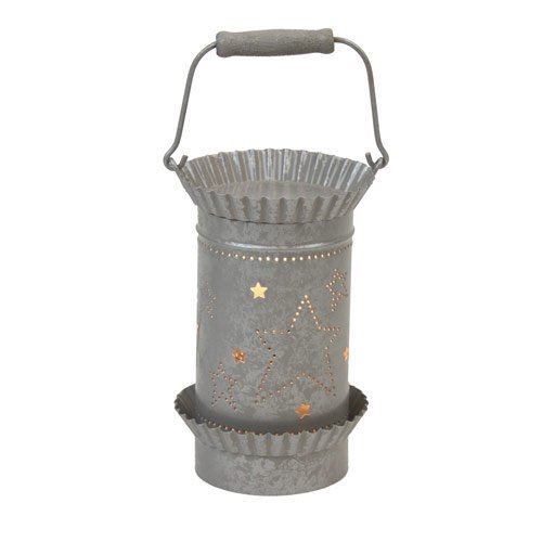 Tin Punched Tart Oil Warmer Gray Star Design by Edge (Tin Tart Burner Electric compare prices)
