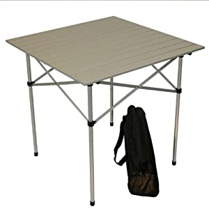 Table In A Bag Ta2727ga Tall Aluminum Portable Table With Carrying Bag Grey from Table In A Bag