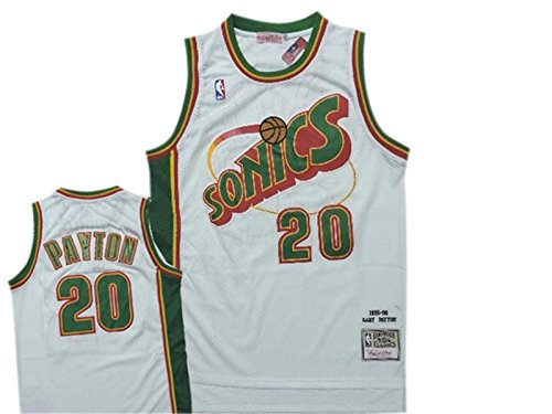 SuperSonics 20 Gary Payton White Hardwood Classics Jersey Size-S (Gary Payton compare prices)