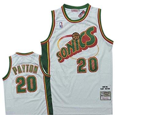 SuperSonics 20 Gary Payton White Hardwood Classics Jersey Size-S (Gary Payton compare prices)