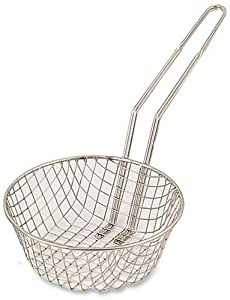 Browne Foodservice 79737 Nickel-Plated Steel Wire Coarse Mesh Culinary Basket, 12-Inch