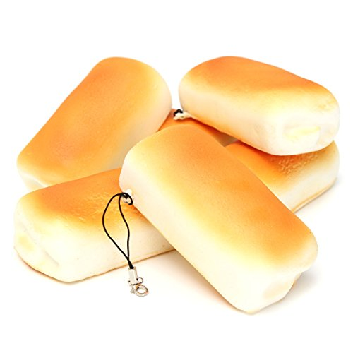 REALACC spongieux jouets à pain petits pains mous jumbo parfumés strap de téléphone charmes de sensibilisation lente
