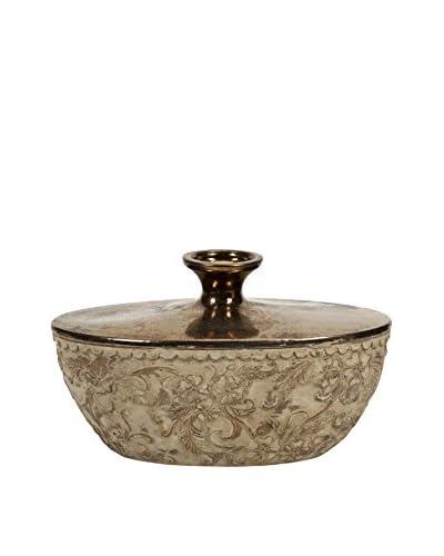 Tennison Short Bronze Top Vase