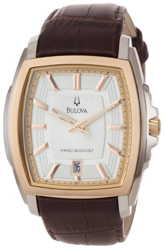 Bulova Men's 98B150 Precisionist Two-Tone Tonneau Strap Watch
