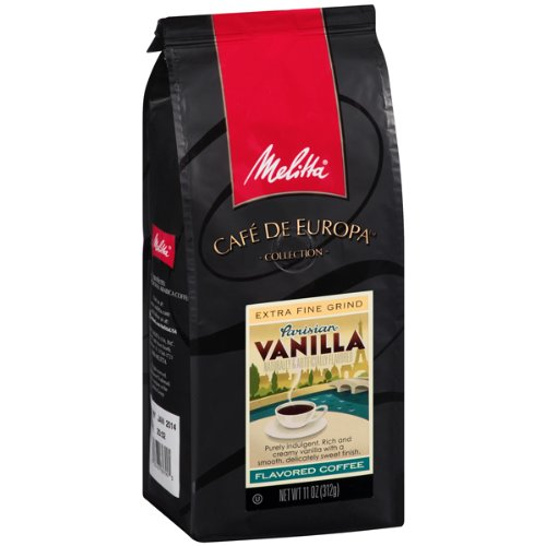 Melitta Caf? De Europa Gourmet Coffee, Parisian Vanilla Ground, Flavored, 11-Ounce (Pack Of 3)