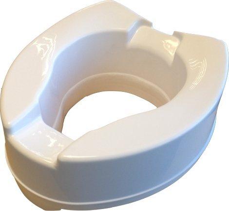 WC-Sitzerhöhung, passt auf alle WC-Sitze durch Ergonomische Form Höhe 10cm