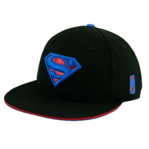 80c387bc1b497 adidas Orlando Magic 12 Dwight Howard Superman Logo Black Fitted Hat 7 1 2