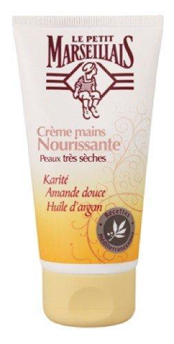 Le Petit Marseillais - Crema per le mani con mandorle e olio di argan, per pelle secca, 1x 75 ml