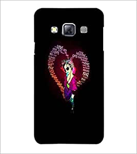 PrintDhaba Typographic Heart D-2720 Back Case Cover for SAMSUNG GALAXY A3 (Multi-Coloured)