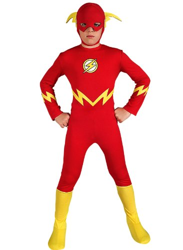 The Flash Costume Child Medium 8-10 Superheroes 2011