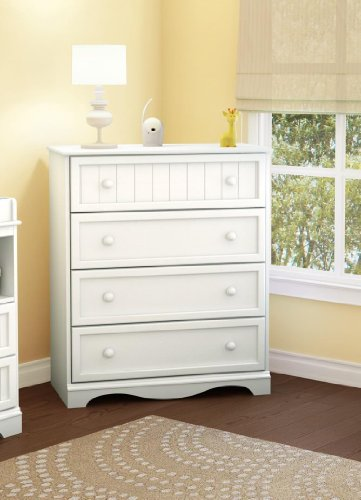 South Shore Savannah Collection 4-Drawer Chest, White