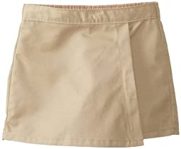 Dickies Little Girls\' Faux Wrap Skort, Khaki, 6 Regular