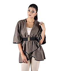 Owncraft Women's Tweed Capes (Own_204_Brown_Small)