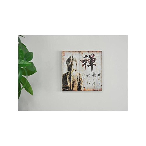 Adeco Decorative Buddha Wood Wall Hanging Plaque