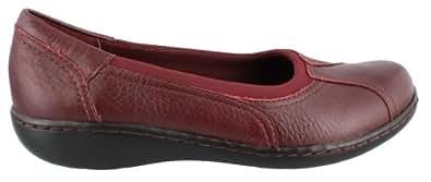Clarks Women's 'Ashland Ray' Shoes (9.5W, Burgundy)