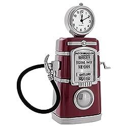 Antique Gas Pump Collectors Replica Desktop Mini Clock