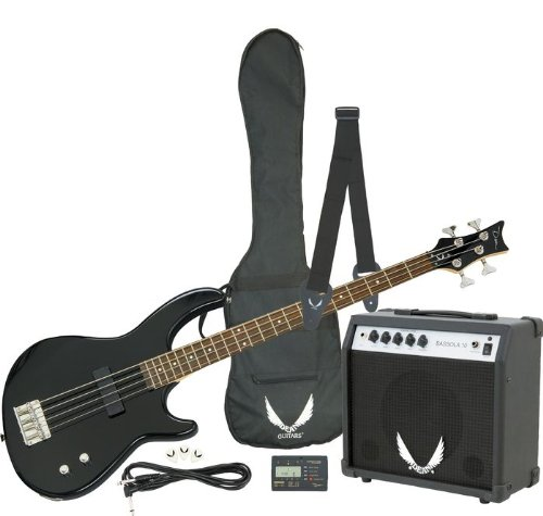 Dean Starter Bass Pack with Edge 09 Bass, Classic Black
