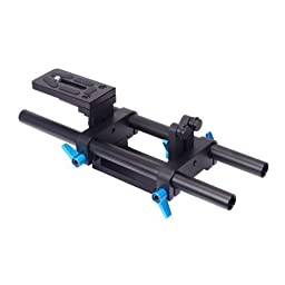 CowboyStudio FOTGA DP500 DSLR Rail 15mm Rod Support System with Quick Release Plate