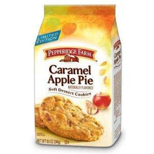 Pepperidge Farm Caramel Apple Pie Soft Dessert Cookies Limited Edition (Pack of 3)
