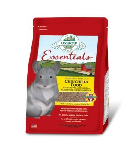 Oxbow Essentials Chinchilla Deluxe Food 2,25 kg - Mangime in pellet, bilanciato a base di erba medica, per cincillà