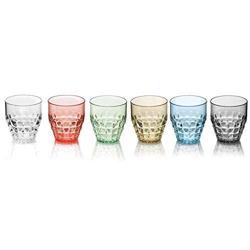 Guzzini Tiffany set 6 bicchieri bassi colori assortiti