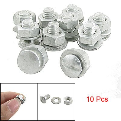 Buy Low Price Como Bicycle Bike Round Head Brake Alloy Pinch Bolts 10 Pcs (sourcingmap)