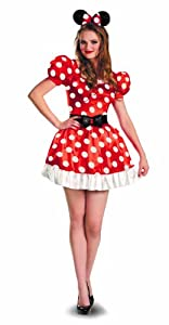 Disguise Costumes Red Minnie Mouse Classic Costume, Red/Black/White, Small/4-6