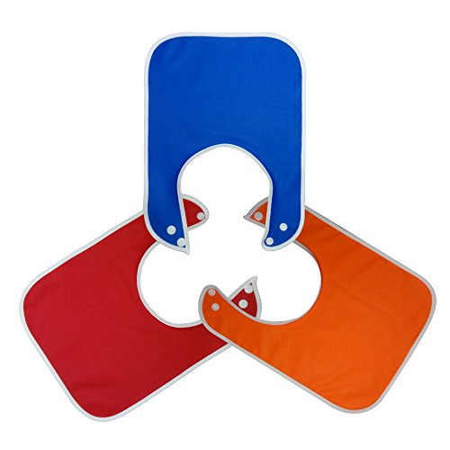 Large Waterproof Baby And Toddler Bibs With Snaps - Boys 3 Pack Solid Colors front-168814